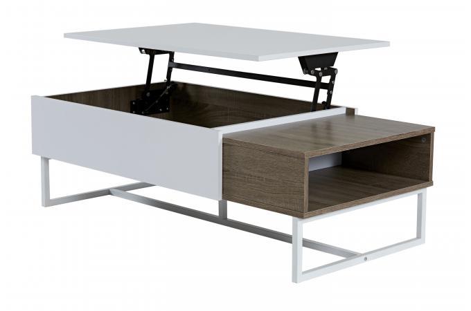 table basse avec plateau relevable kaizen design sur sofactory. Black Bedroom Furniture Sets. Home Design Ideas