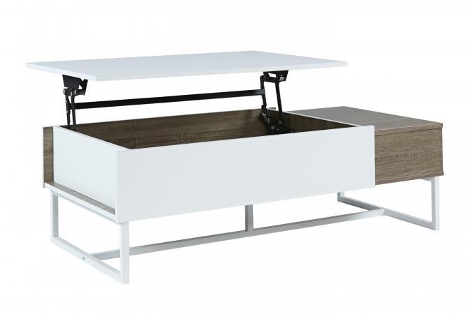 Table basse avec photo simple gnrique kendra table basse - Kendra table basse blanche plateau relevable ...
