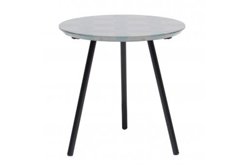Table d'Appoint Blanc Noir DIONISIO SoFactory