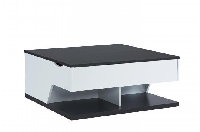 Table Basse Blanc Noir Sherwood Design Sur Sofactory