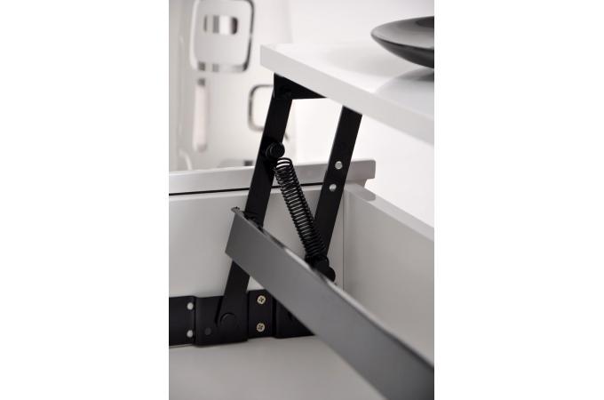 table basse en imitation bois blanche plateau relevable fiona design sur sofactory. Black Bedroom Furniture Sets. Home Design Ideas