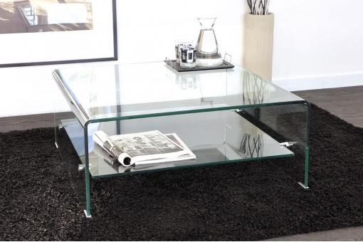 Table basse carré en verre OTTAWA Transparent Lo58803-0000
