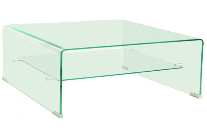62a28d18e4d47 Table basse carré en verre OTTAWA design sur SoFactory