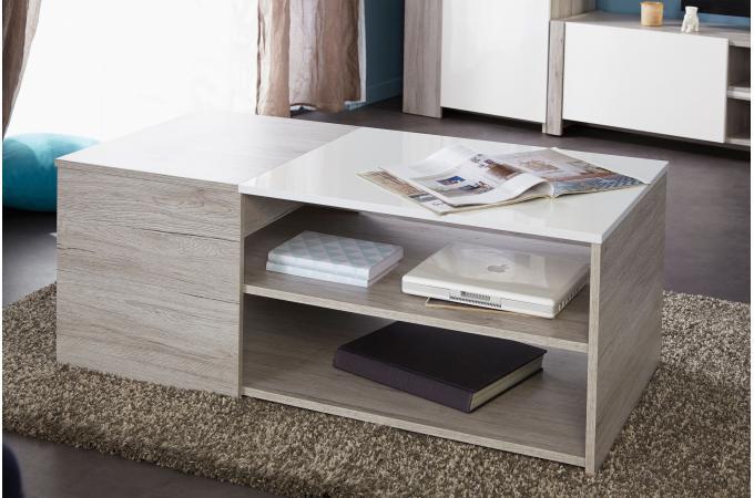 table basse contemporain coloris ch ne gris lydie design sur sofactory. Black Bedroom Furniture Sets. Home Design Ideas