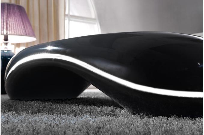 Table basse design avec lumi re led noir fredo design sur sofactory - Table basse design avec led ...