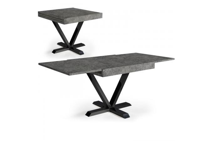 table basse design rtractable effet bton gris ivon