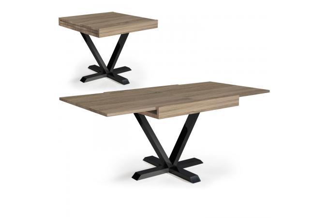 Table Basse Design Retractable Effet Chene Clair Ivon Design Sur