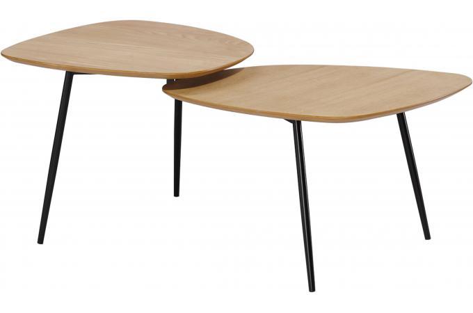 Table basse scandinave double plateau bois angel design for Table basse scandinave originale
