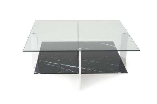 Table Basse Double Plateau Verre Noir GRECIA So113296-0000