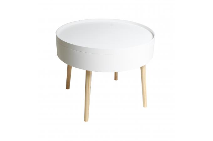 table basse en bois blanc plateau amovible arama design sur sofactory. Black Bedroom Furniture Sets. Home Design Ideas