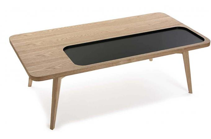 table basse en bois noir elfy design sur sofactory. Black Bedroom Furniture Sets. Home Design Ideas