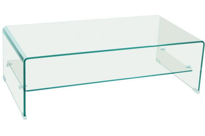 Table basse rectangulaire en verre ottawa design sur sofactory - Table en verre rectangulaire ...