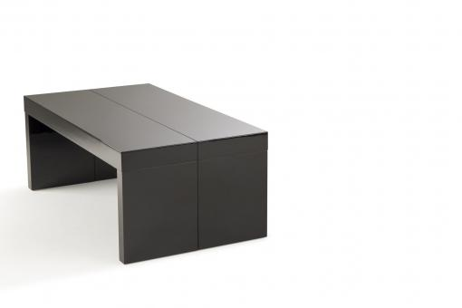 Table Basse Extensible 2 Allonges Noire NOKA So257801-0000