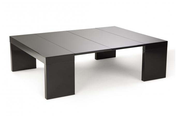 Table Basse Extensible 2 Allonges Noire NOKA SoFactory