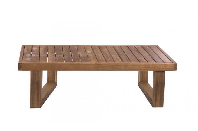 Table Basse Extérieur Teck Marron LUIGI design sur SoFactory