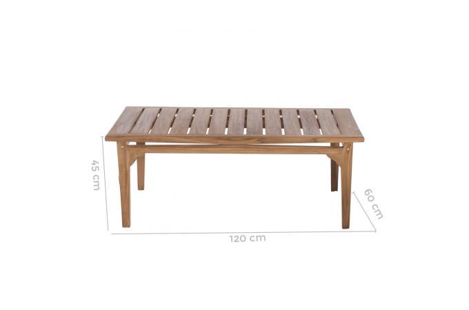 Table Basse Extérieur Teck Marron PAOLO design sur SoFactory