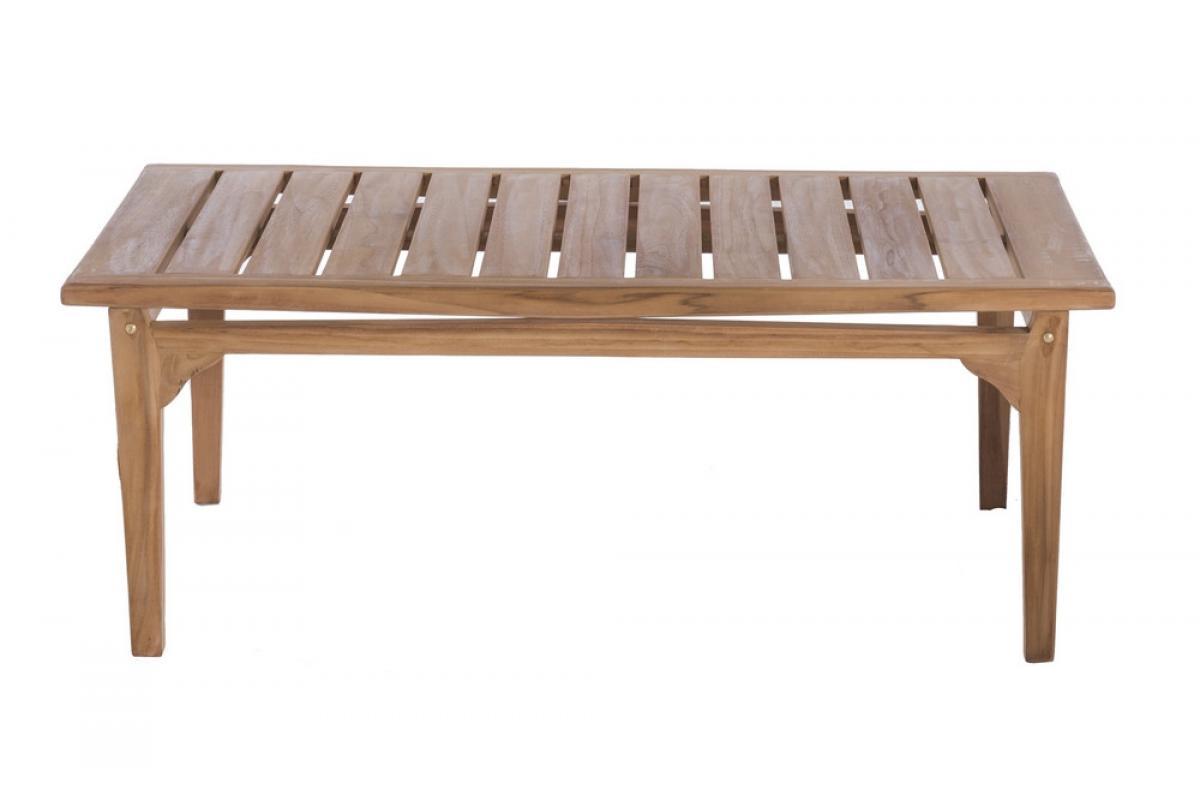 Table Basse Extérieur Teck Marron PAOLO