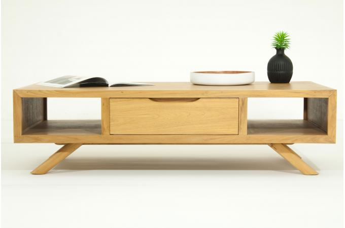 table basse en bois massif fifties design sur sofactory. Black Bedroom Furniture Sets. Home Design Ideas