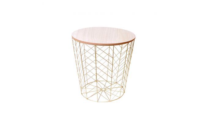 prix compétitif a6a5c 09aa2 Table Basse Filaire Métal Or BARLY design sur SoFactory