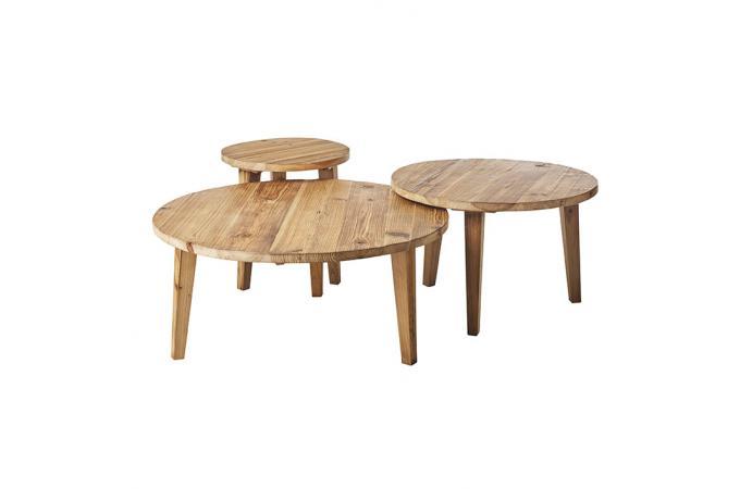 Table Basse Gigogne Bois.Table Basse Gigogne Bois Massif Neltura