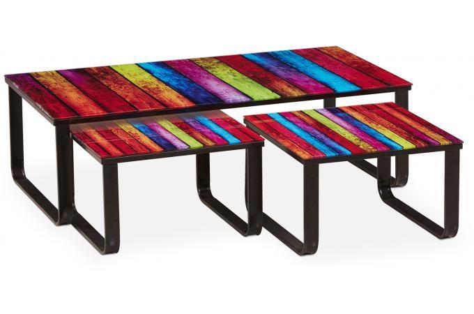 table basse gigogne multicolore marly design sur sofactory. Black Bedroom Furniture Sets. Home Design Ideas