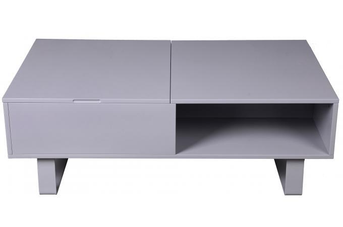 table basse grise avec plateau relevable minseo design sur sofactory. Black Bedroom Furniture Sets. Home Design Ideas