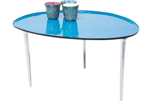 table basse bleue 65x75cm ovo design pas cher sur sofactory. Black Bedroom Furniture Sets. Home Design Ideas