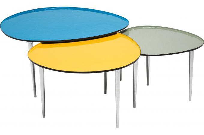 table basse jaune 57x62cm ovo design pas cher sur sofactory. Black Bedroom Furniture Sets. Home Design Ideas