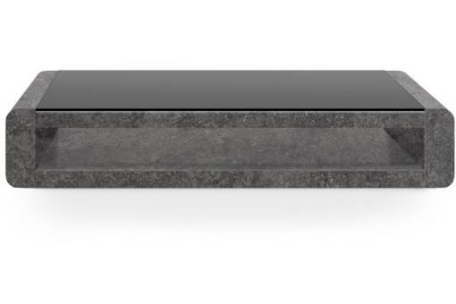 table basse laqu e effet b ton gris willy design sur sofactory. Black Bedroom Furniture Sets. Home Design Ideas