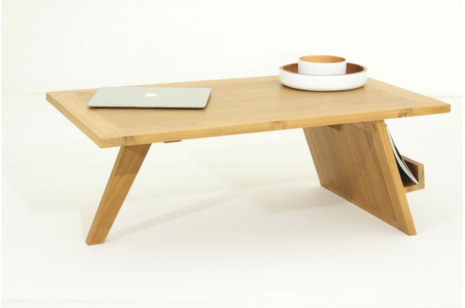 table basse en teck massif teo design sur sofactory. Black Bedroom Furniture Sets. Home Design Ideas