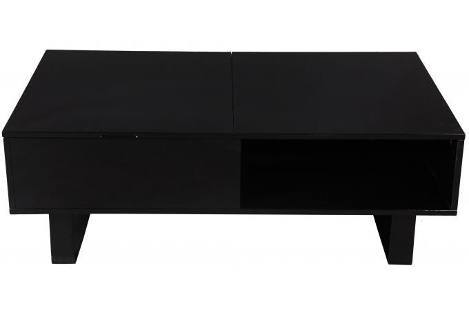 Table Basse Noire Avec Plateau Relevable Minseo Design Sur Sofactory