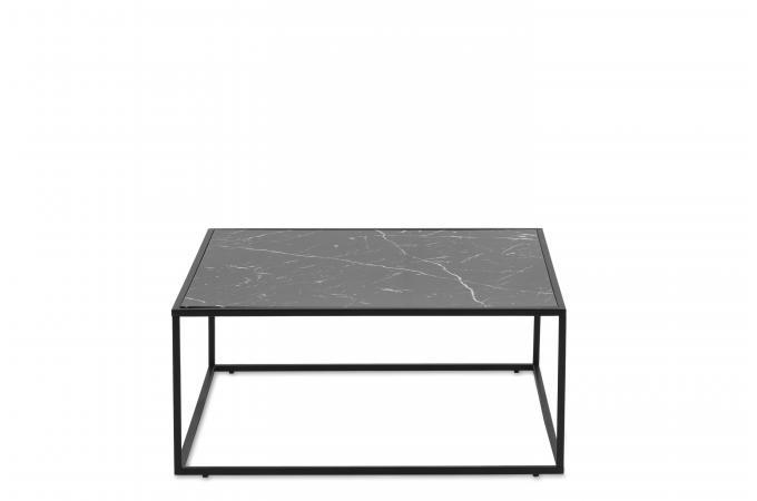 table basse plateau effet marbre noir matrix design sur sofactory. Black Bedroom Furniture Sets. Home Design Ideas