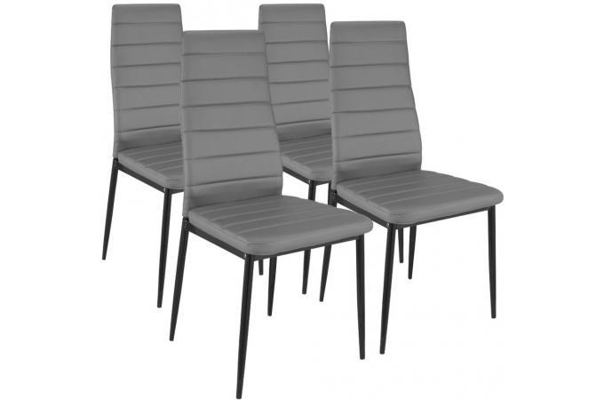 table basse relevable rallonges grise fonc avec 4 chaises grise choeur des. Black Bedroom Furniture Sets. Home Design Ideas