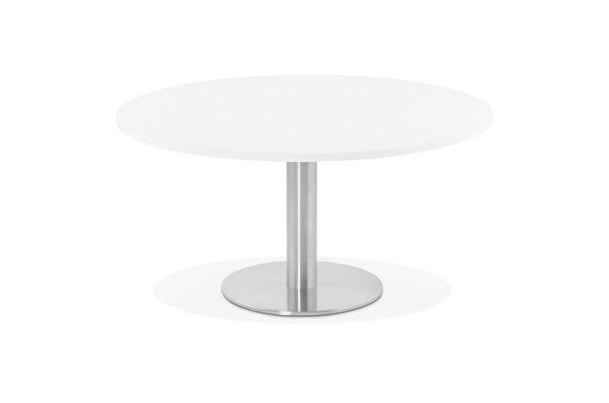 Table Basse Blanche Design.Table Basse Ronde Blanche Aguilas