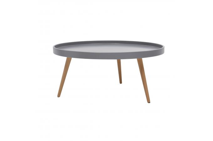 table basse ronde scandinave grise d80cm morea design sur sofactory. Black Bedroom Furniture Sets. Home Design Ideas