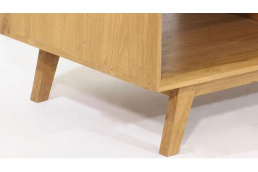 Table Basse Scandinave avec 2 Niches en Teck Massif Beige PEPIN DE1177943-0000