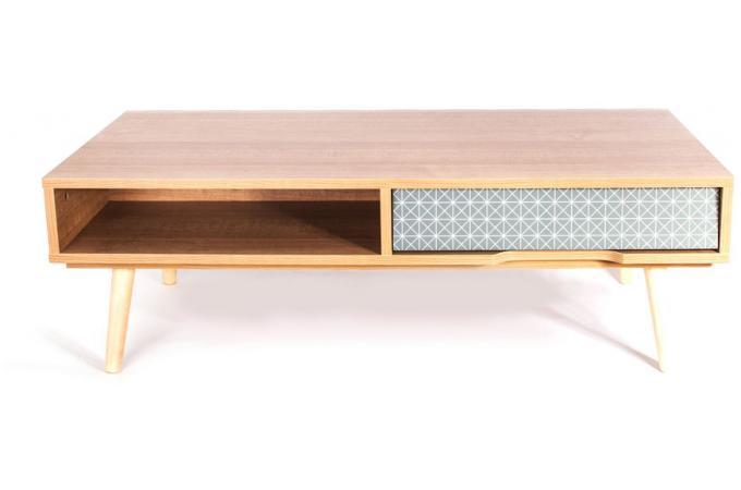 Table basse scandinave avec tiroir sound design sur sofactory Table basse scandinave avec tiroir