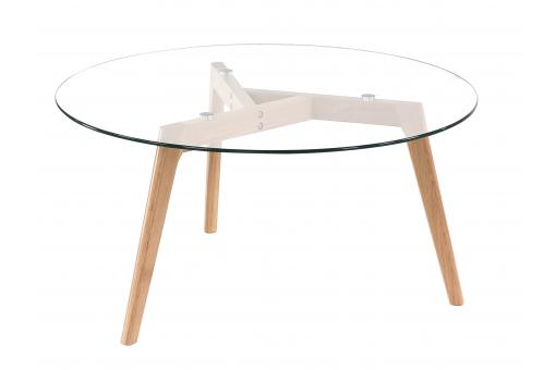 Table Basse Scandinave D90cm Verre POLAAR SoFactory