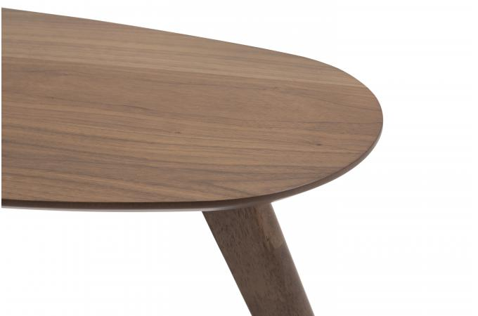 table basse scandinave haricot bois fonc senzu design sur sofactory. Black Bedroom Furniture Sets. Home Design Ideas