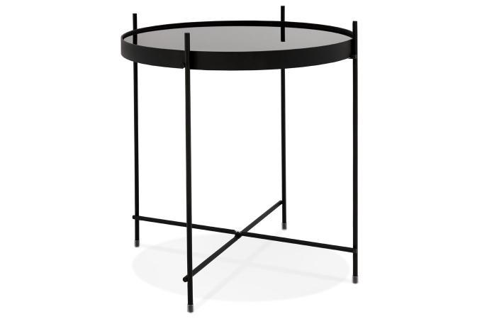 Table Basse En Verre Noir.Table Basse Verre Noir Marta
