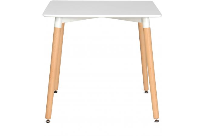 Table carr e blanche 80x80 sidoine design sur sofactory for Table 80x80
