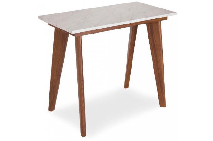 Sanor Console Table Marbre Et Extensible Marron Effet 4A5jLR