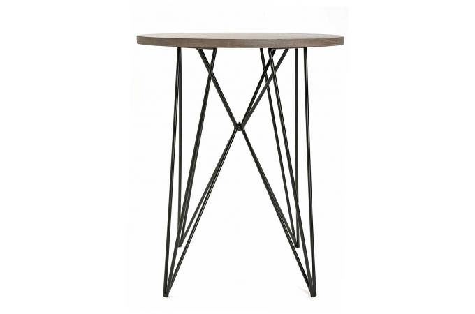 Table d 39 appoint filaire bois m tal marlin design sur sofactory for Table filaire