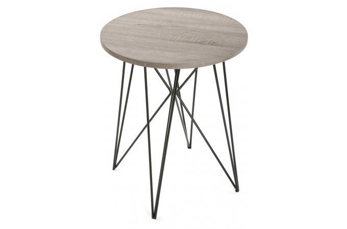 Table d 39 appoint filaire bois m tal marlin design sur sofactory - Table d appoint haute ...