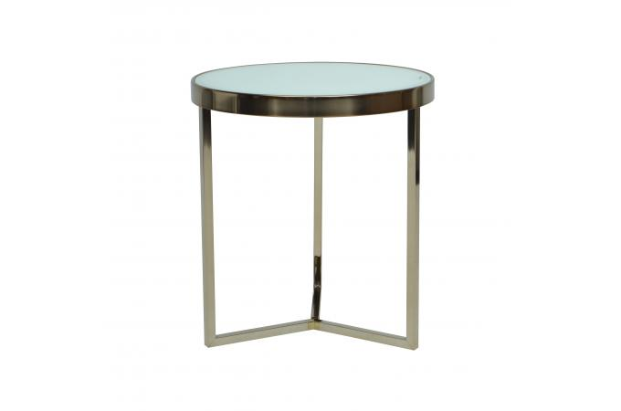 table d 39 appoint design blanc et dor benja design sur sofactory. Black Bedroom Furniture Sets. Home Design Ideas