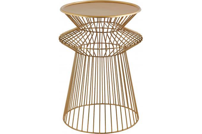 table d 39 appoint style filaire en m tal dor h51 wireline. Black Bedroom Furniture Sets. Home Design Ideas