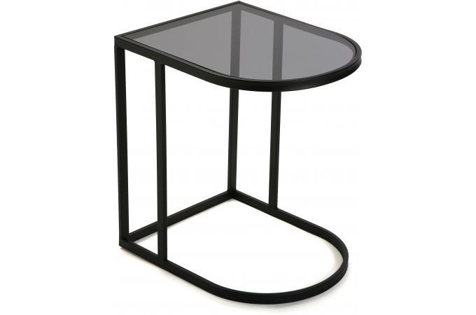 Table D Appoint Filaire Noire Plateau Verre Versi