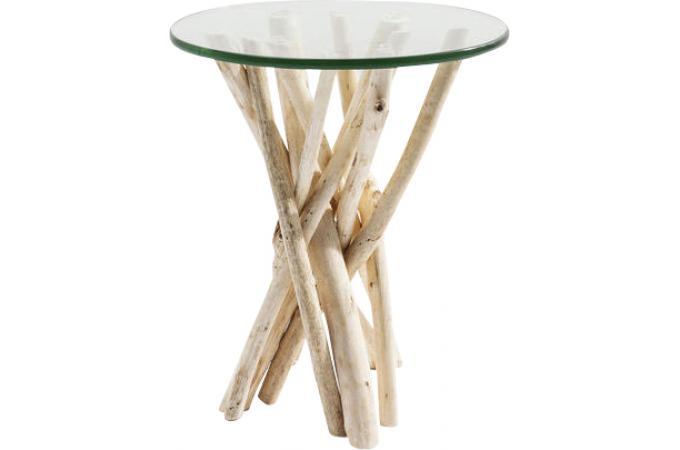 table d 39 appoint plateau en verre d45cm sonatural design sur sofactory. Black Bedroom Furniture Sets. Home Design Ideas