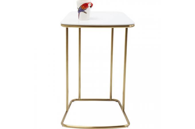 table d 39 appoint blanche et dor e miami design sur sofactory. Black Bedroom Furniture Sets. Home Design Ideas