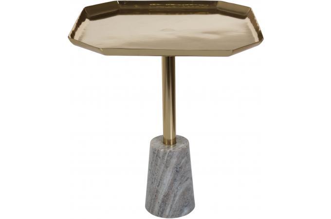 table d 39 appoint dor e avec socle en marbre yulo design sur sofactory. Black Bedroom Furniture Sets. Home Design Ideas